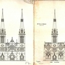 Proposed architectural drawings for St. Peter's Cathedral, 1880
